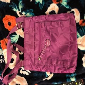 Purple coach crossbody